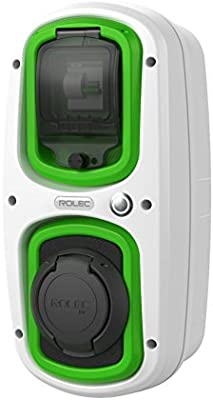 32 Amp Type 2 Socket Colour EV//Electric car Black//Green WallPod Charging Unit