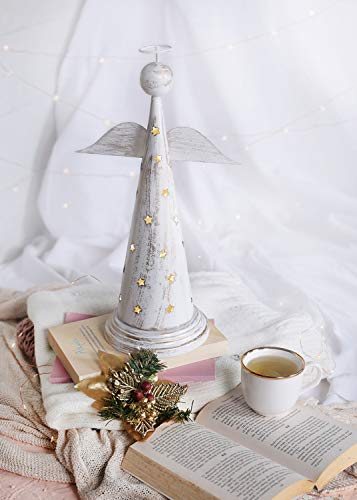 storeindya Decorations Metal Incense Tower & Ash Catcher Christmas Home Décor Accessory (Angel)