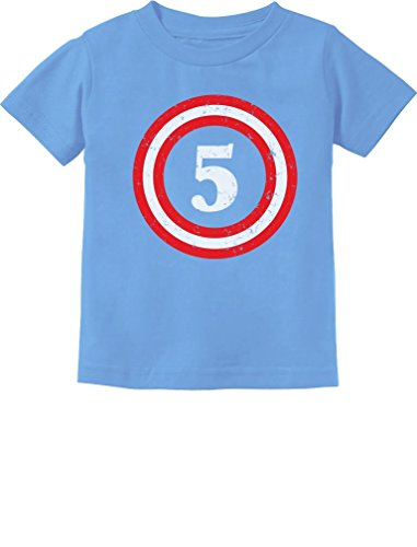 Captain 5th Birthday - Gift for Five Years Old Toddler/Infant Kids T-Shirt 3T California -