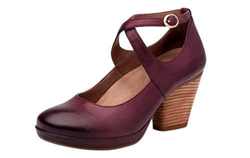 Dansko womens Miinette Pumps,Wine Nubuck 37 M EU by Dansko
