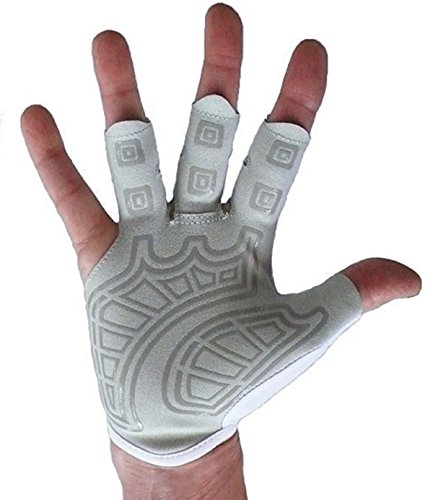 Rowing Gloves & Gym Gloves – Right Hand Smooth Palm - Best Comfortable Scull Fingerless Gloves for Men Women (Medium 20 - 21.5 - Best Low Cycling Cost Sunglasses