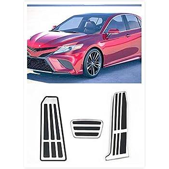 For Toyota RAV4 XA50 2019 2020 Accessories Aluminum Automatic Transmission Non-Slip Metal Rubber Fuel Oil Tank Cap Brake Foot Car Gas Pedal Cover Set Kit 2pcs