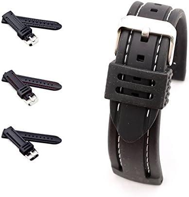 BOB Herren Silikon Uhrenarmband Modell Chrono 24 mm