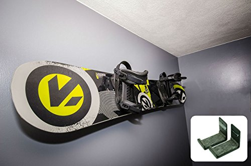 StoreYourBoard Naked Snow | Snowboard Display Wall Rack | Powder Coat Black