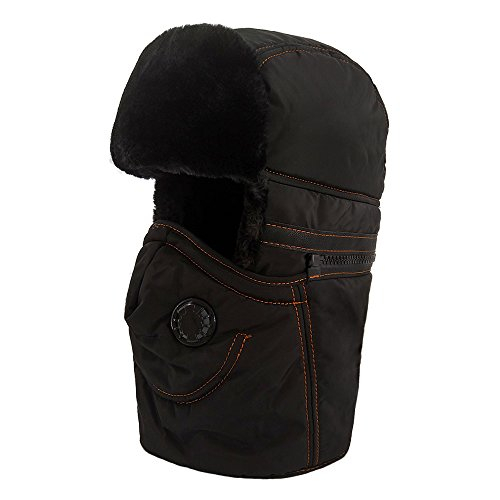Free LETHMIK Winter Ushanka Trapper Hat Unisex Hunting Bomber Hat with Removable Neck Wrap