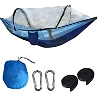 thematys Outdoor hangmat met muggennet, robuust en ultralicht, perfect voor kamperen, outdoor, overleven (hangmat 8)