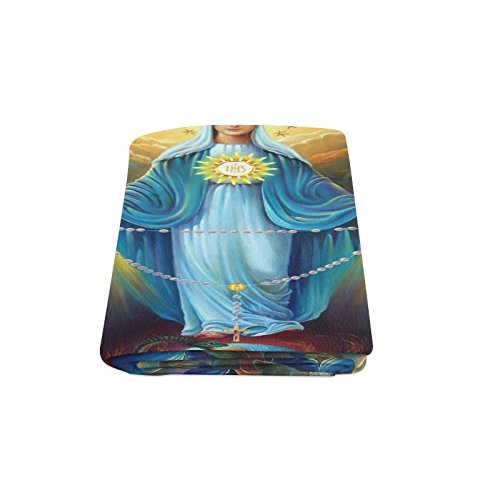 Thanksgiving/Christmas Gifts Christian Religious Virgin Mary Warmer Winter Fleece Throw Plush Blanket 58 x 80 inches (Large)