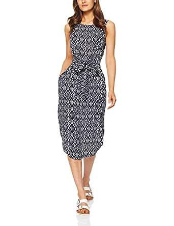 Jag Women's Maze Dress, Navy White, 10
