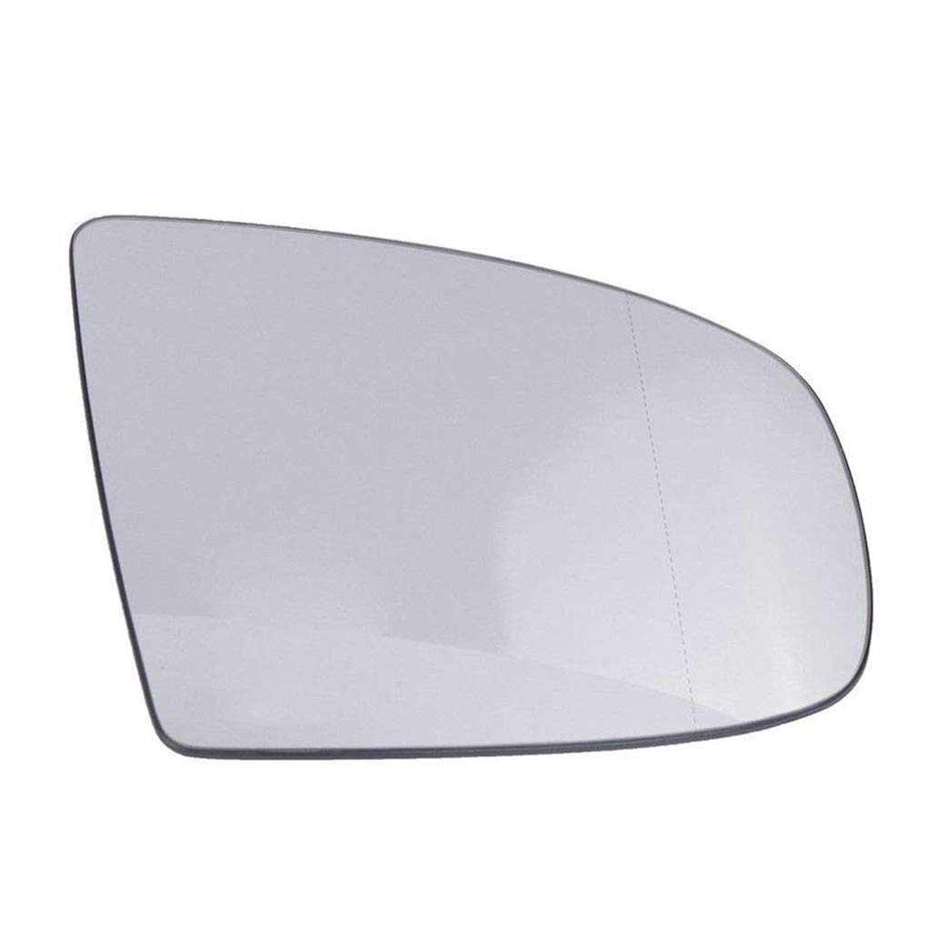 Demino White Front Right Side Wing Rearview Mirror Glass Wing Mirror Glass,Right Side compatible con X5 E70 2008-2013 51167174981