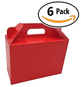 decorative red craft cardboard gift boxes a box set of 6 with lids and handle for. Black Bedroom Furniture Sets. Home Design Ideas