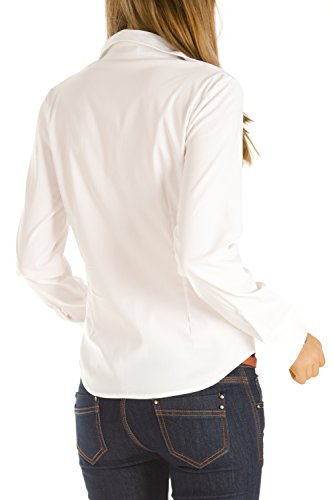 bestyledberlin - Camisas - corte imperio - Básico - Manga Larga - para mujer negro