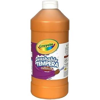 Crayola Tempera Washable Paint 32-Ounce Plastic Squeeze Bottle, Orange