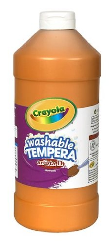Crayola Tempera Washable Paint 32-Ounce Plastic Squeeze Bottle,