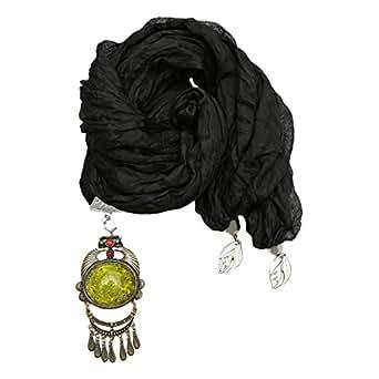 Unique Fashion Scarf Pendant for Women, Black
