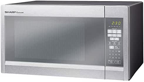 Sharp R551ZM 1.8 Cu. Ft. 1100 Watts Sensor Technology Microwave Oven Stainless Steel (Certified Refurbished)