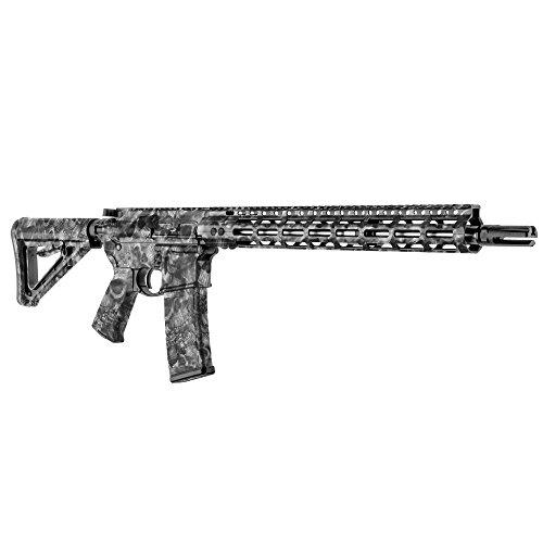 Gunskins Ar 15 Rifle Skin Camouflage Kit Diy Vinyl Wrap With Precut Pieces  Proveil Reaper Black