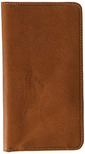 Italian Cow Leather Bifold Checkbook Breast Pocket Wallet with ID Window Multi Business & Credit Card - Secretary Mens Wallet Breast