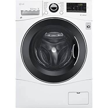 LG WM3488HW 24 Washer/Dryer Combo with 2.3 cu. ft. Capacity, Stainless Steel Drum in White