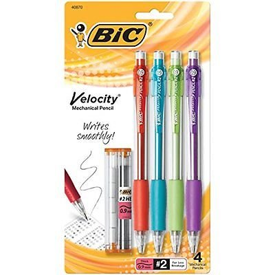 BIC Velocity Mechanical Refillable 4 Count