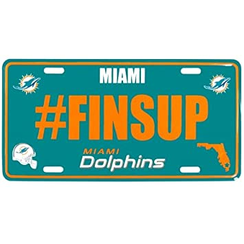 nfl miami dolphins hashtag license plate teal - Miami Dolphins License Plate Frame