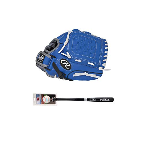 Rawlings T-Ball Youth Bundle (Right Hand Throw) (Series Bat Wood Youth Baseball)