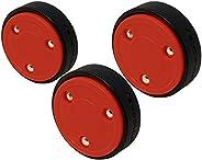 Smarthockey 4oz Slider Hockey Training Speed Puck (Black 3-Pack) … (RED 3-Pack)