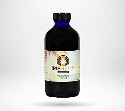 Irie Hemp - Organic Hemp Seed Oil - Cold Pressed - 8 fl oz