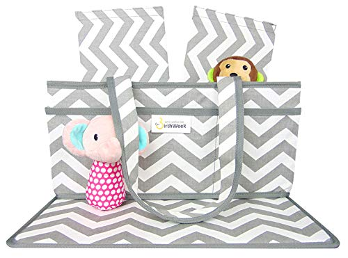 Baby Diaper Caddy Organizer; Unique Design Protects Diapers and Home from Spills and Moisture; Extra Large Baby Travel Organizer; A Thoughtful Baby Shower Idea