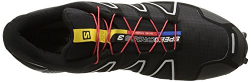 Salomon Herren Speedcross 3 Trail Laufschuh Schwarz / Schwarz / Silber Metallic-x