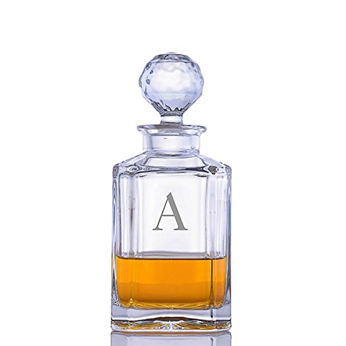 Personalized Classic Crystal Liquor and Whiskey Decanter by Crystalize Engraved & Monogrammed - Great Gift for Mother's Day, Weddings and Groomsmen by Crystalize (Image #6)