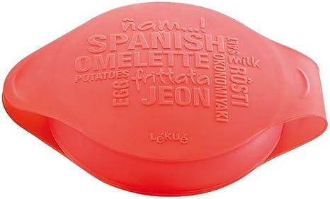 Lékué Spanish Omelette - Molde para tortilla española, color rojo: Amazon.es: Hogar