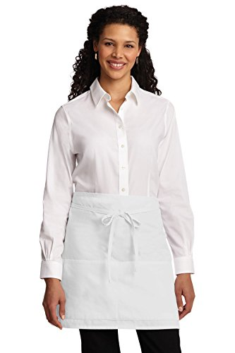Port Authority novelty-and-special-use Easy Care Half Bistro Apron OSFA White ()