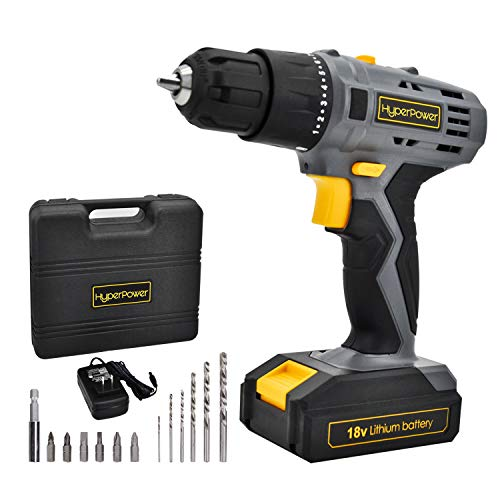 Werktough D018 18V Cordless Drill Driver 2 viable speed Powerful Screwdriver Lion Battery Accessories