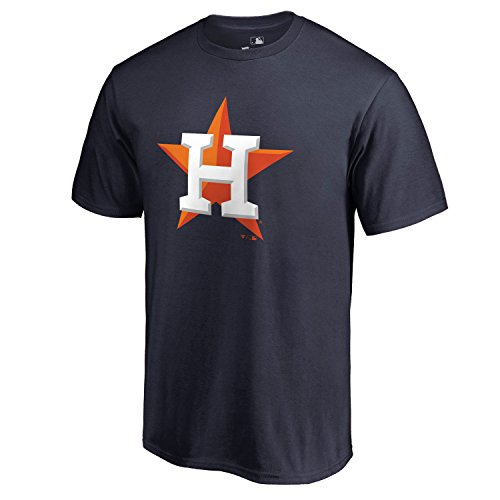 MLB Youth 8-20 Team Color Performance Primary Logo T-Shirt (Medium 10/12, Houston Astros) (Astros Clothes Houston)