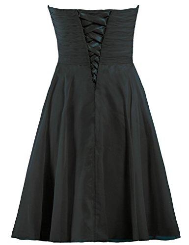 Robes De Bal En Mousseline Strapeless De Fourmis Courtes Femmes Noires Robe De Bal