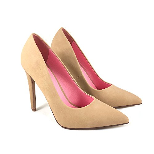 Classic Delicious Single Cindy Nubuck Toe Nat Pointy Women's Sole Velvet Pump 4g0r4w