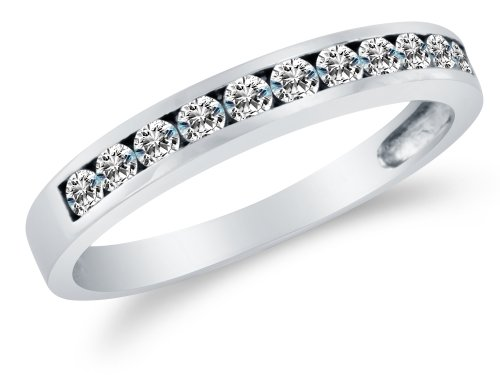 Classic Channel Set Wedding Ring - 1