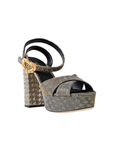 Sandali Di Donne Dolce Delle Gabbana Argento Cuoio E Cr0567ah9308t656 npwz4xq1g