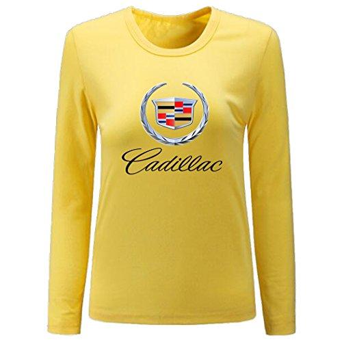 Shield Womens Cap Sleeve T-shirt - Huntifly Women's Crown Shield Shaped Badge General Motors Long Sleeve Shirt (Yellow Medium)