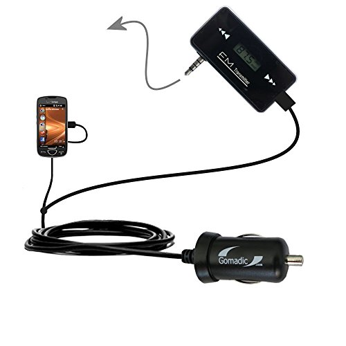 3rd Gen FM Transmitter with Micro Rapid Car Charger compatible with the Samsung Omnia II SCH-i920