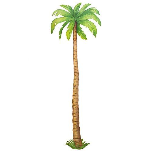 Palm Tree Bent - Beistle 55137 Jointed Palm Tree, 6-Feet