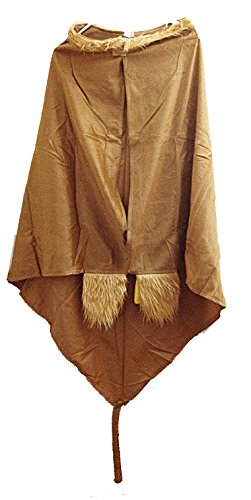 Child's Suede Monkey Cape with Tail & Furry Paws (1 Piece) (Costume Monkey Tail)