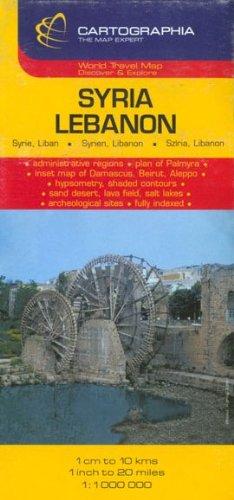 Syria, Lebanon = Syrie, Liban = Syrien, Libanon = Sziria, Libanon (Country Map)...