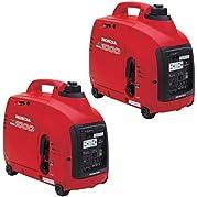 Honda Power Equipment EU1000I 1000W 120V Power Portable Gas Generators, 2-Pack