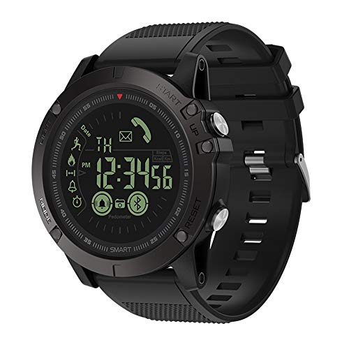 Huangou Zeblaze Vibe 3 Smart Sport Watch Waterproof Alarm Mate CameraFor iOS/Android,Smartwatch with Walking Calories,Remote Camera, Call/SNS/SMS Reminder for iOS and Android Smartphone (Black)