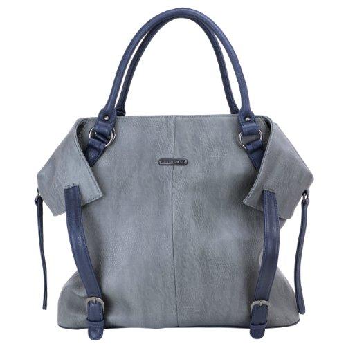 timi & leslie Charlie - Bolso cambiador, color negro gris / azul marino