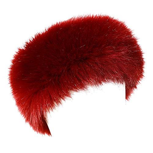 (Dikoaina Womens Faux Fur Headband Winter Earwarmer Earmuff Hat Ski)