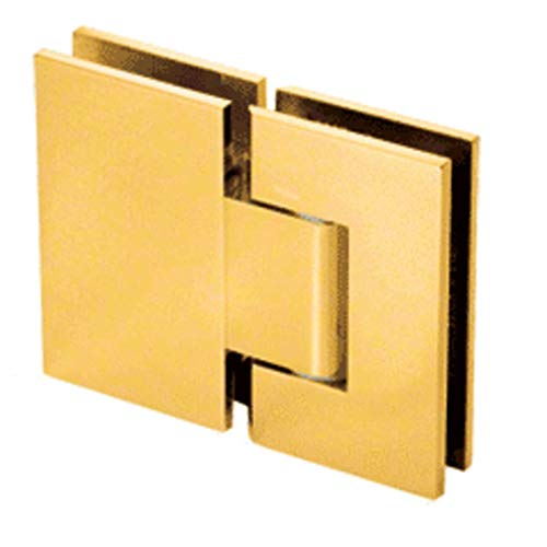 CRL Geneva 380 Series Gold Plated Adjustable 180176; Glass-to-Glass Hinge - Gold Plated Geneva Series