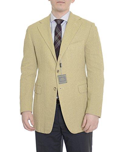 Sartoria Partenopea Slim Fit 40R 50 Lime Green Tweed Silk Wool Sportcoat ()
