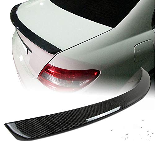 Gooogo 2008-2014 Mercedes W204 C300 C350 C63 Trunk Spoiler Wing Fin Lid Carbon Fiber-Look for Mercedes Benz W204 4-Door Sedan